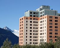 Old Army Housing in Whittier Alaska royalty free stock image