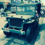 Old army jeep Stock Images