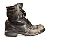 Old army style boot Royalty Free Stock Photography