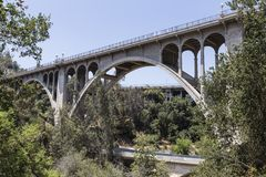 Old Arroyo Bridge Pasadena, California Royalty Free Stock Images