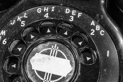 Old Art Deco Phone - Antique Rotary Dial Telephone Stock Images
