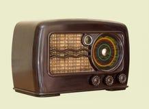 Old art deco radio isolated on white background stock photo