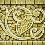 Old Art Nouveau Tile Dating from before 1906 Royalty Free Stock Images