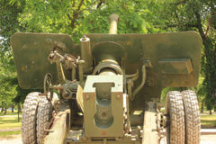 Old artillery cannon Stock Images