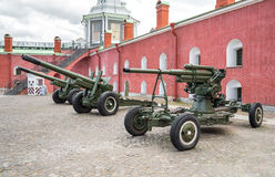 Old artillery cannons Royalty Free Stock Images