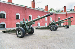 Old artillery cannons Royalty Free Stock Photo