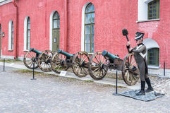 Old artillery cannons Stock Photography