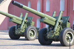 Old artillery cannons Stock Photo
