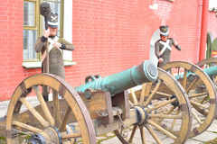 Old artillery cannons. Royalty Free Stock Photography