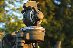 Old artillery dating mossy Royalty Free Stock Images