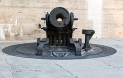 Old artillery guns at Fort de Soto Florida Stock Image