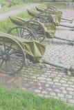Old artillery pieces, now decorative Stock Photos