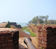 An Old Artillery at St. Angelo`s Fort, Kannur, Kerala, India... This is a photograph of an old and ancient artillery in St. Angelo`s fort in Kannur, Kerala Stock Images