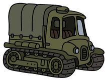 Old artillery tractor Stock Photography