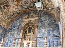 Old, artistic and decorative tiles.  royalty free stock photography