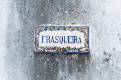 Old, artistic and decorative tiles. Placed on walls stock photos