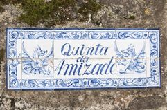 Old, artistic and decorative tiles. Placed on walls royalty free stock photo