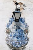 Old, artistic and decorative tiles. Placed on walls royalty free stock photos