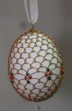 Old artistic easter egg design. In Easter Egg Museum, Kolomyia, Ukraine stock photography