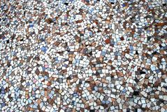 Old artistic multicolored mosaic flooring Royalty Free Stock Photo