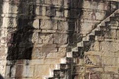 Old asia fort stone wall with  staircase background Stock Photography