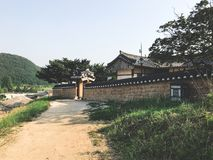Old asian house in the traditional korean village. South Korea stock photography
