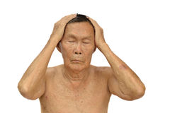 An old asian man Royalty Free Stock Photos