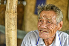 Old asian man Stock Photography