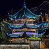 Old Asian Pagoda Temple. Buddhism Religion Center Royalty Free Stock Photos