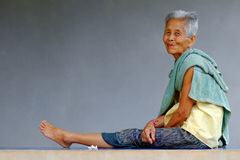 Old Asian Woman Royalty Free Stock Photography