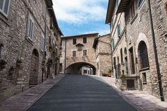 Old Assisi's street Royalty Free Stock Photography