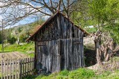 An old assistant farmhouse in Serbia stock image