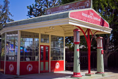 Old Associated Gasoline Service Station Stock Photography