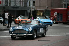 Old Aston martin rally in San Francisco Royalty Free Stock Photos