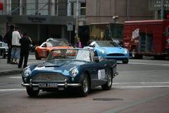 old Aston martin rally in San Francisco Royalty Free Stock Photos