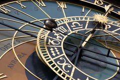 Old astronomic clock in Prague (orloj) Stock Images
