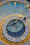 Old astronomical clock detail Royalty Free Stock Photos