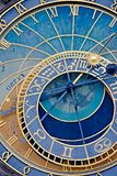 Old astronomical clock detail Royalty Free Stock Photography