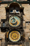 Old astronomical clock in Prague. Czech Republic Royalty Free Stock Image