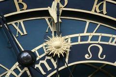 Old astronomical clock in Prague Stock Photos