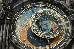 Old astronomical clock in Prague Stock Photos