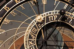 Old astronomical clock in Prague Royalty Free Stock Photos