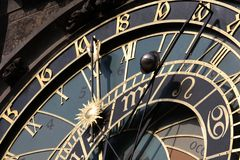 Old astronomical clock in Prague. Czech Republic royalty free stock images