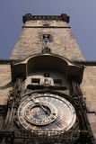 Old astronomical clock in Prague Stock Image