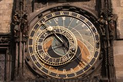 Old astronomical clock in Prague Stock Photo