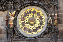 Old astronomical clock, Prague, Czech Republic, Europe Stock Images