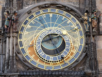 Old astronomical clock in Prague, Czech Republic, Europe Royalty Free Stock Images