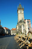 Old Astronomical Clock Tower in Prague Stock Photos