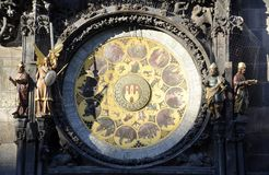 Old astronomy clock Royalty Free Stock Photography