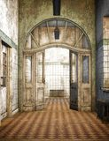 Old Asylum, 3D CG Royalty Free Stock Image